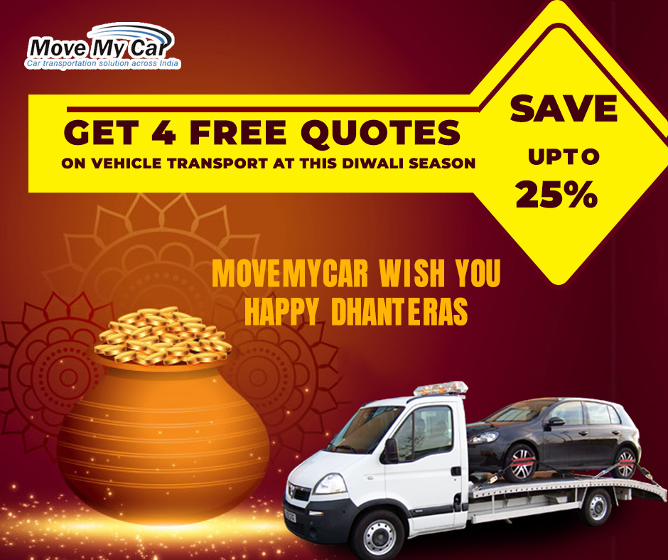 Car Transport on Dhanteras and get upto 25% Save- MoveMyCar